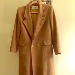 Vintage Camel Wool Down Coat Structured Menswear